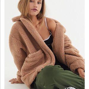 NWT I am Gia Teddy Coat m medium tan